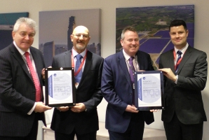 ISO Certification being awarded