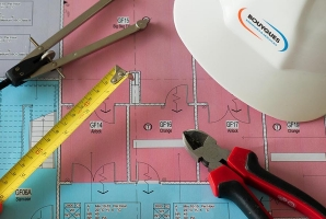 Engineering supplies on table